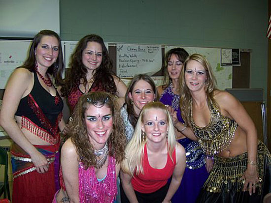 Lurainya Koerber's students performing in MoonGypsy Productions bellydancing student recital