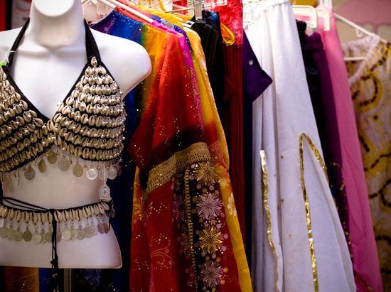 Vendors selling bellydance costuming at Lurainya's annual World Dance Extravaganza and student recital