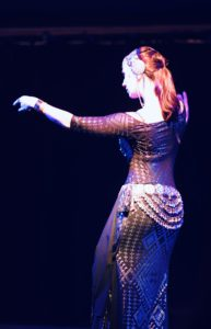 Lurainya Koerber performing belly dance at the Bucks Fever Talent Show